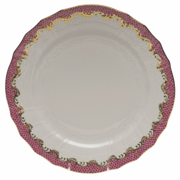 Herend White With Pink Border Service Plate 11''D