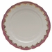 "Herend White With Pink Border Service Plate 11""D"