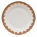 """Herend White With Rust Border Dinner Plate 10.5""""D"""
