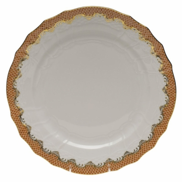 Herend White With Rust Border Service Plate 11''D