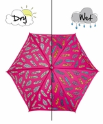 Holly & Beau Kid's Umbrella Feathers Fuschia