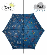 Holly & Beau Kid's Umbrella Pirate Ship Royal