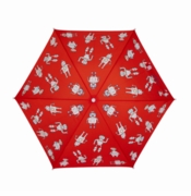 Holly & Beau Kid's Umbrella Red Robots