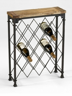 Hudson 21 Bottle Iron Wine Rack by Cyan Design
