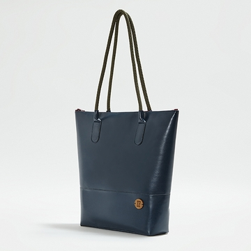 IF Navy Women's Tote Bag - Made in Italy, Vegan Leather