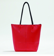 IF Sleek Red Women's Tote Bag - Made in Italy, Vegan Leather