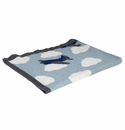 in2green Airplane Blue Pond/Milk/Cobalt Baby Blanket