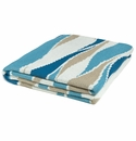 in2green Breakers Dark Teal/Water/Camel/Ivory Indoor/Outdoor Throw