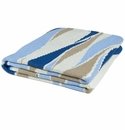 in2green Breakers Royal/Sky/Camel/White Indoor/Outdoor Throw