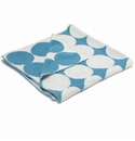 in2green Dots Milk/Aqua Reversible Baby Blanket