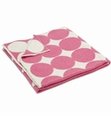 in2green Dots Milk/Princess Reversible Baby Blanket
