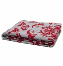 in2green Dragons Cherry/Aluminum Reversible Throw