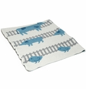 in2green Farm Animals Aqua Baby Blanket