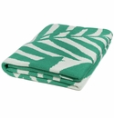 in2green Flora Emerald/Ivory Indoor/Outdoor Throw