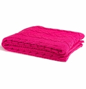 in2green Fuchsia Chunky Cable Throw