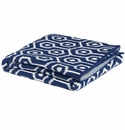 in2green Geo Cobalt Baby Blanket