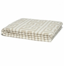 in2green Infinite Greek Key Milk/Flax Reversible Throw