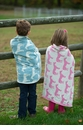 in2green Pony Blue Pond Baby Blanket