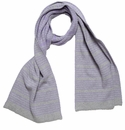 in2green Reversible Stripe Scarf Lilac/Aluminum