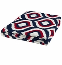 in2green Royal Navy/Red/Ivory Indoor/Outdoor Throw