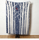 in2green Throws Birch with Snow Slate Throw