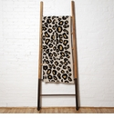 in2green Throws Cheetah Black/Straw/Flax Throw