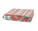 in2green Throws Elements Seafoam/Coral Throw