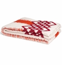 in2green Throws Feathered Stripe Spice with Pomegranate Border Throw
