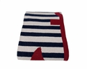 in2green Throws French Stripe Anchor Marine Throw