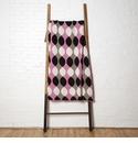 in2green Throws Helix Pink/Black/Hemp Throw
