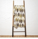 in2green Throws Mod Leaf Chocolate/Moss Throw