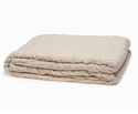 in2green Throws Organic Classic Cable Natural Throw