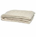 in2green Throws Organic Fisherman Cable Natural Throw