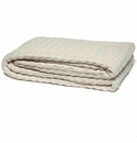 in2green Throws Organic Ribbed Cable Natural Throw