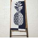 in2green Throws Split Pineapple Marine/Milk Throw