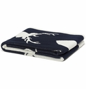 in2green Throws Stag Silhouette Marine Throw
