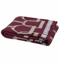 in2green Throws Stirrup Burgandy/Hemp/Alum Throw