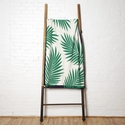 in2green Throws Tropical Palm Emerald/Marine Throw