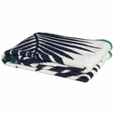 in2green Throws Tropical Palm Marine/Emerald Throw