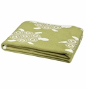 in2green Throws Turtles Pistachio/Flax Throw