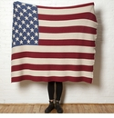 in2green Throws Vintage American Flag Throw