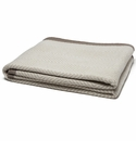in2green Throws Woven Square Flax/Milk-Border Hemp Throw