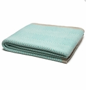 in2green Throws Woven Square Hemp/Milk Border-Seafoam Throw