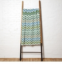 in2green Throws ZigZag Aqua/Aluminum Throw