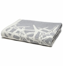 in2green Tumbling Starfish Aluminum/Milk Reversible Throw