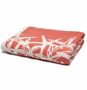 in2green Tumbling Starfish Coral/Milk Reversible Throw
