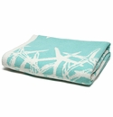 in2green Tumbling Starfish Seafoam/Milk Reversible Throw