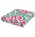 in2green Vintage Tile Emerald/Pink/White Indoor/Outdoor Throw
