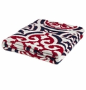 in2green Vintage Tile Navy/Red/Ivory Indoor/Outdoor Throw