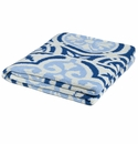 in2green Vintage Tile Royal/Sky/Ivory Indoor/Outdoor Throw